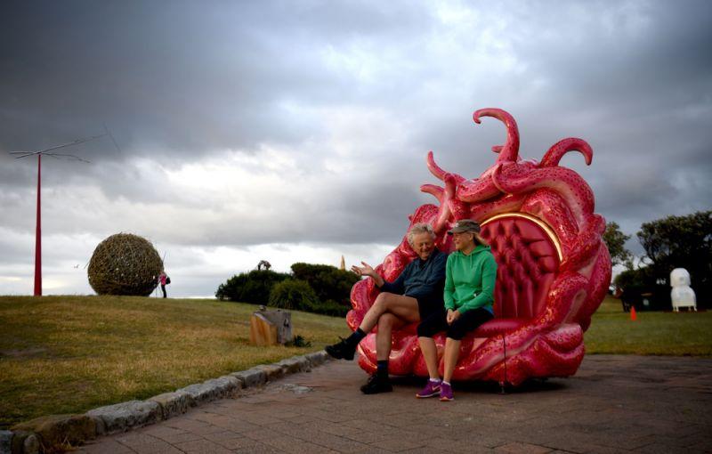 Скульптуры у моря на выставке Sculpture by the Sea