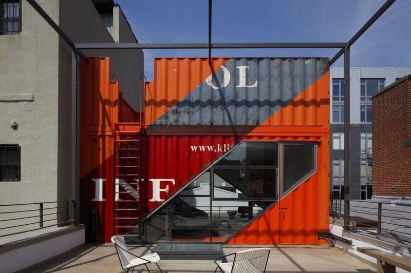 Дом из 4 морских контейнеров в Нью-Йорке