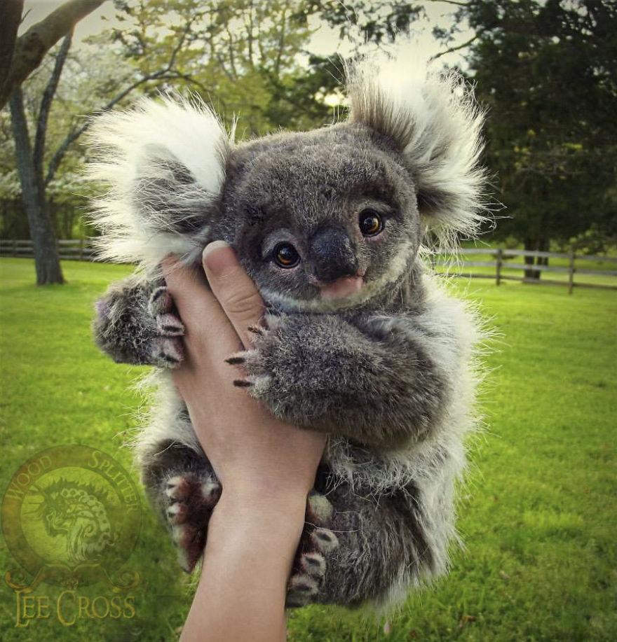 Реалистичные плюшевые малыши животных