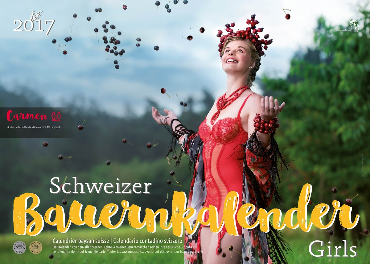 Горячий календарь со швейцарскими крестьянками