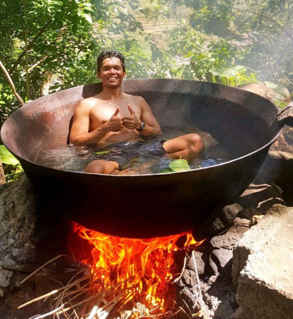 Ванна для тех, кто хочет быть поближе к природе