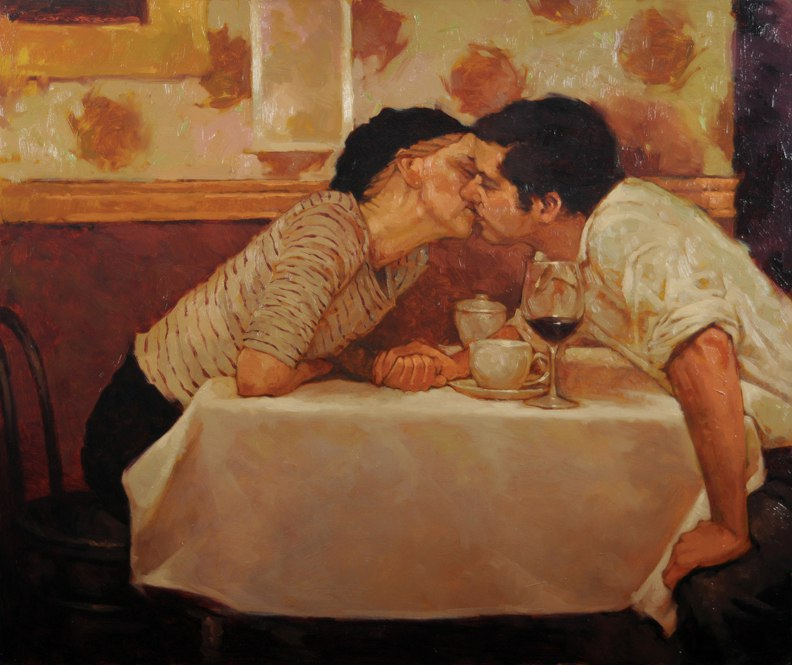 Картинки известного художника про пару