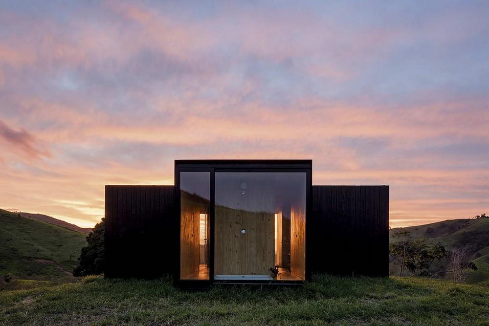 Миниатюрный модульный дачный домик в Бразилии