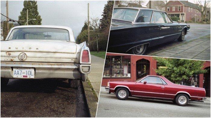 Старые автомобили на улицах Ванкувера