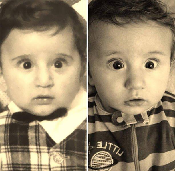 Дети, которые удивительно похожих на своих родителей