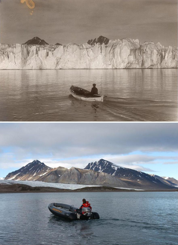 Изменения ледников Арктики за последние 100 лет