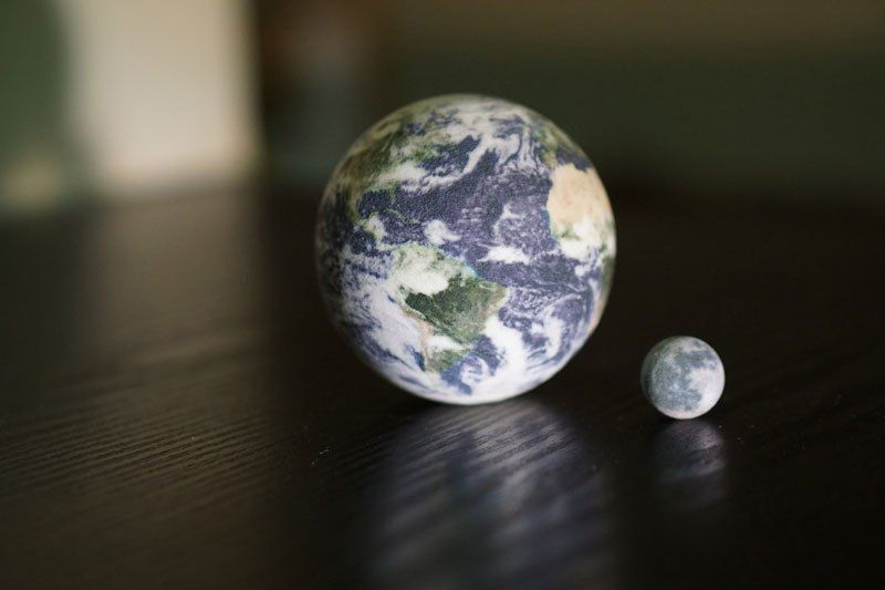 Карманная модель Солнечной системы в реальных пропорциях