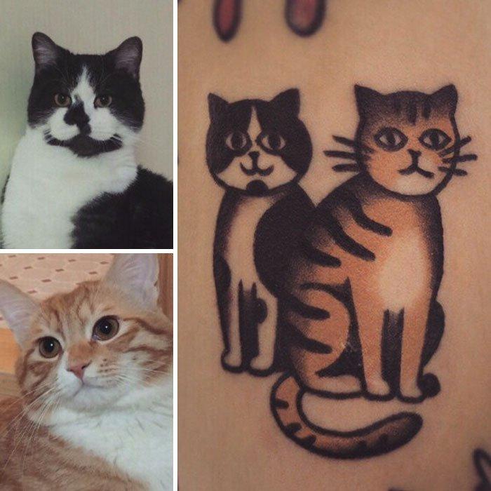 Мультяшные татуировки домашних животных от Jiran