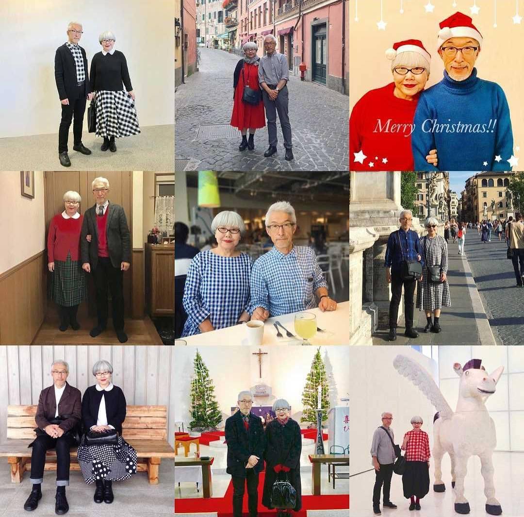 Супружеская пара из Японии уже 37 лет одевается в одинаковом стиле