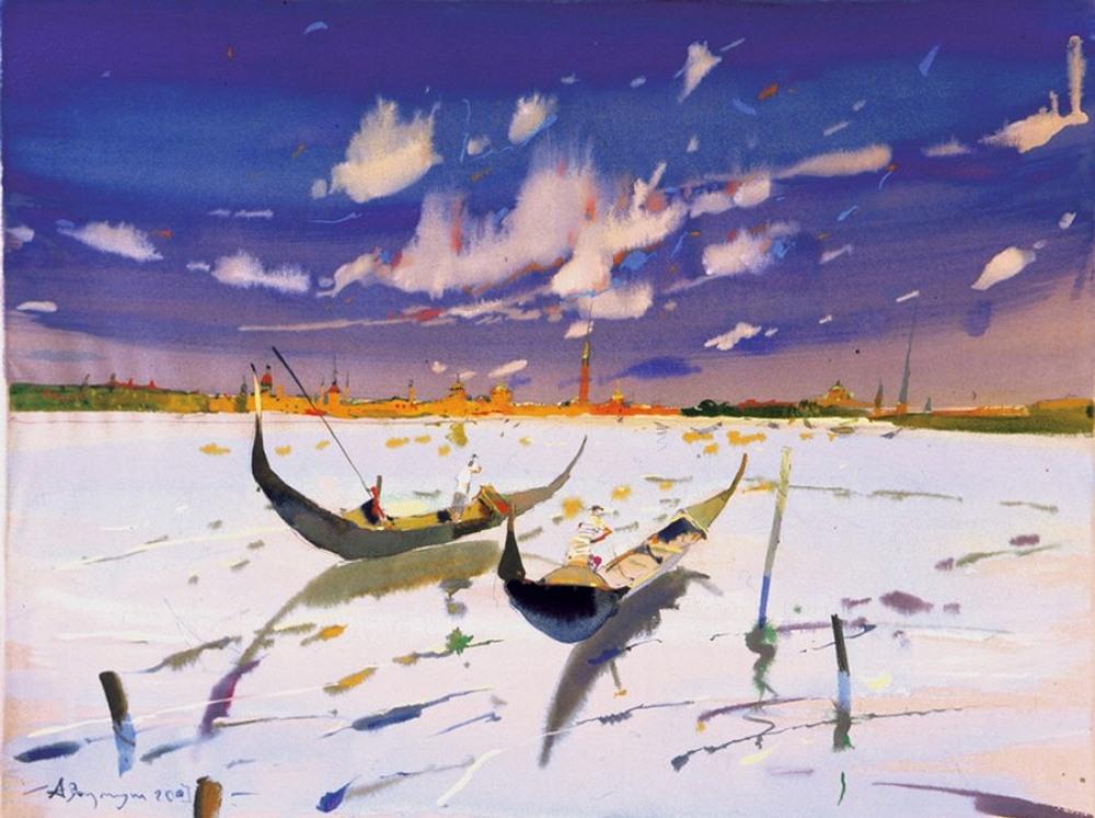 Виртуозная акварельная живопись Аруша Воцмуша