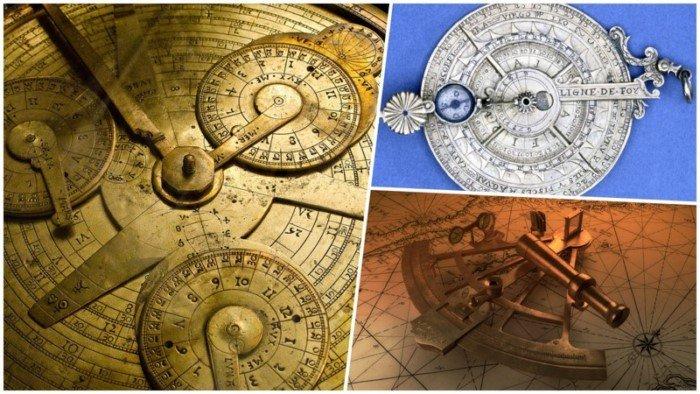 Красивые астрономические приборы прошлого