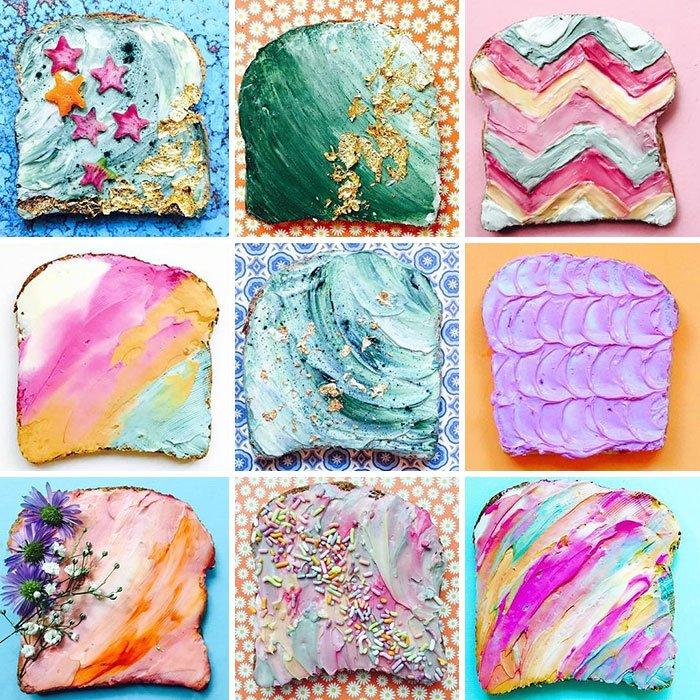 Разноцветные тосты покоряют Instagram