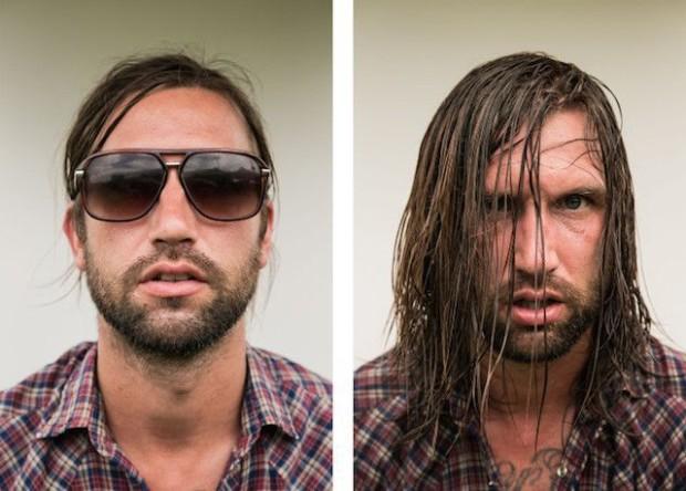 Рок-музыканты до и после выступлений