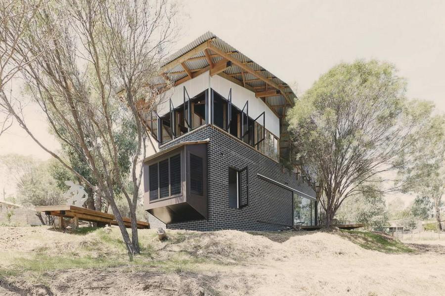 Современная дом-хижина в Австралии