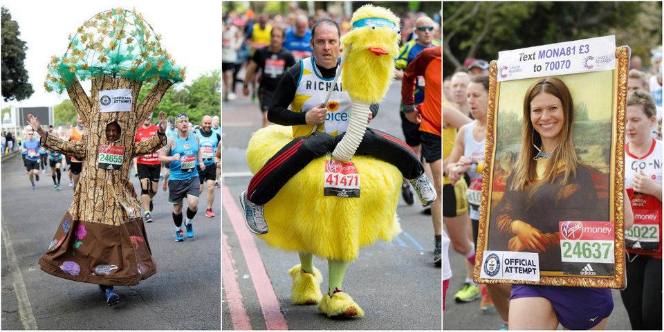 Странные наряды участников Лондонского марафона