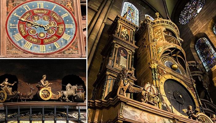 30-метровые часы Страсбургского собора — шедевр эпохи Возрождения