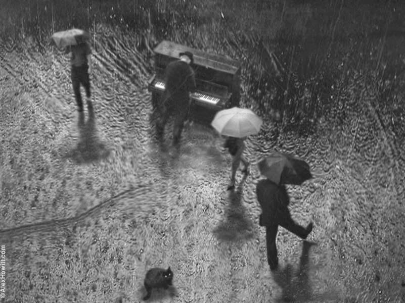 Чёрно-белые художественные снимки от Алекса Хоуита