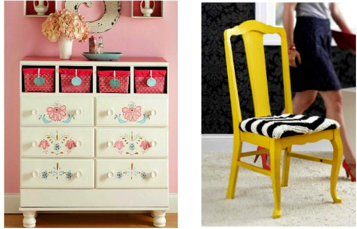 Как превратить старую мебель в дизайнерские предметы интерьера
