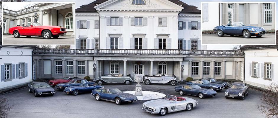 Коллекция из 12 классических автомобилей в Швейцарском особняке