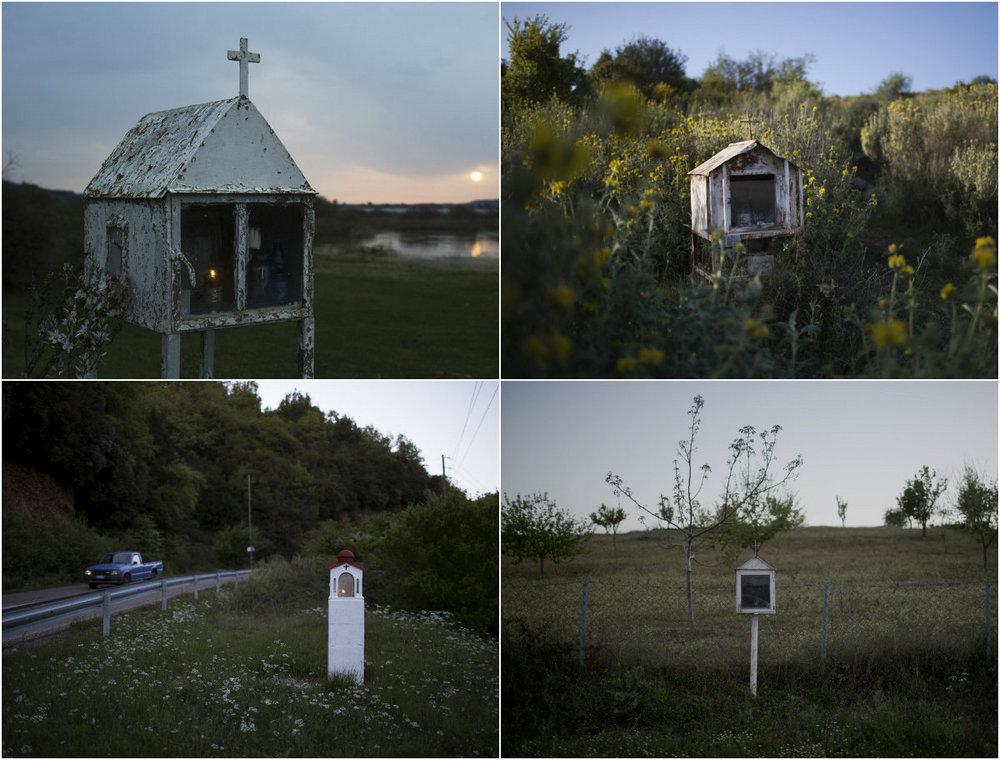 Небольшие монументы вдоль дорог Греции