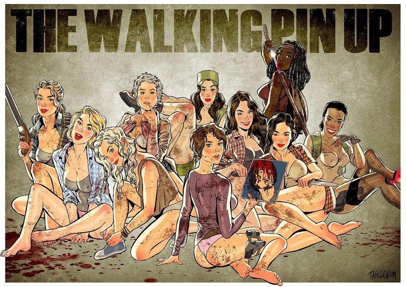 The Walking Dead в стиле пинап от Андрея Тарусова