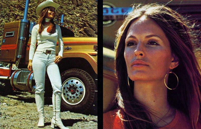 Американские грузовики и девушки 70-х из журнала Overdrive Magazine