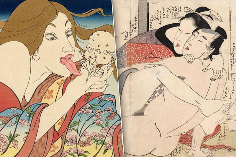 Японское порно в древности