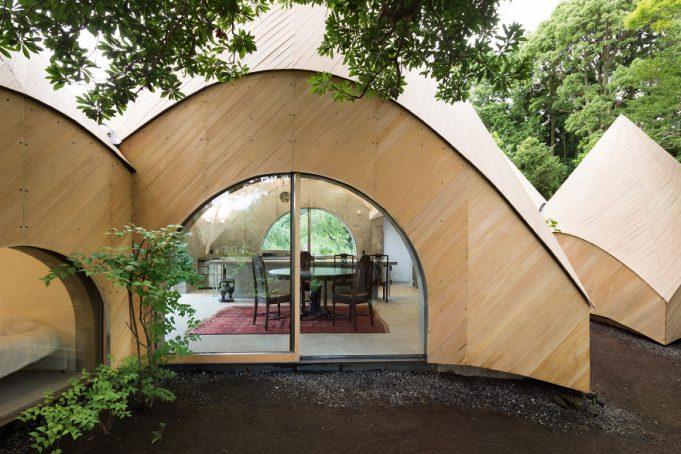 Уютный лесной дом для пенсионеров в горах Японии