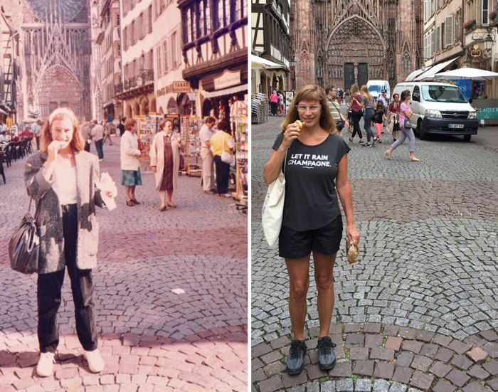 Американка воспроизвела снимки 30-летней давности
