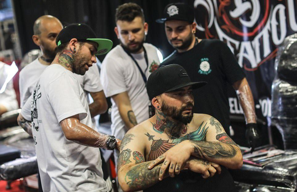 Ежегодная тату-конвенция Expo Tattoo Fair 2017 в Колумбии