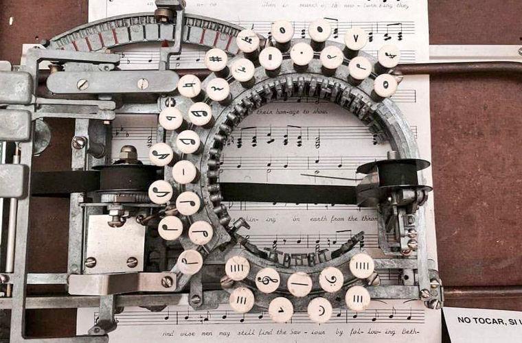 Пишущие машинки для нот