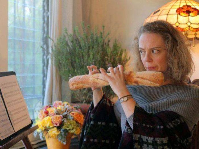 Прикольные фото с французским багетом