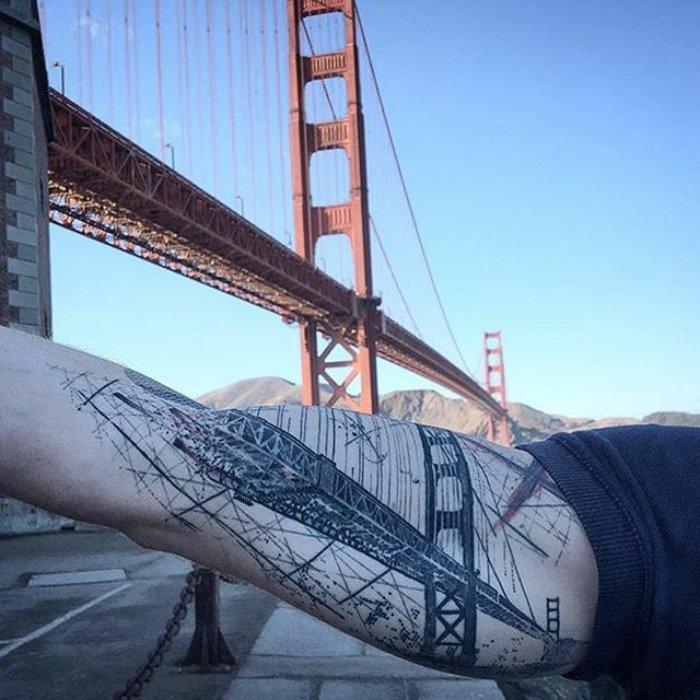 Татуировки, вдохновлённые архитектурой