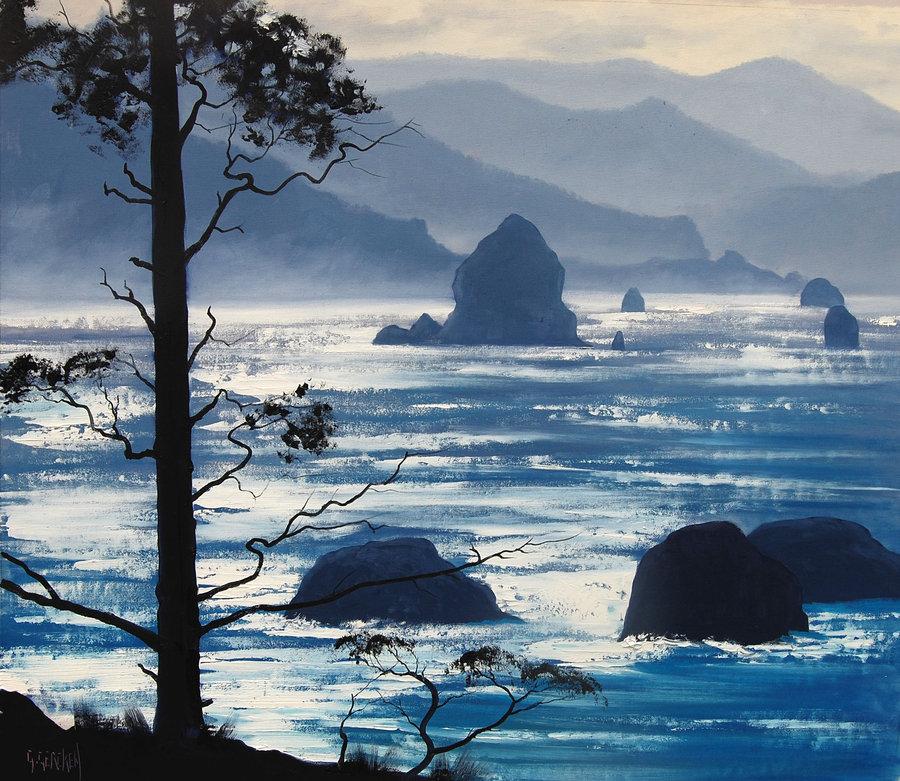 Упоительные пейзажи маслом от австралийского художника