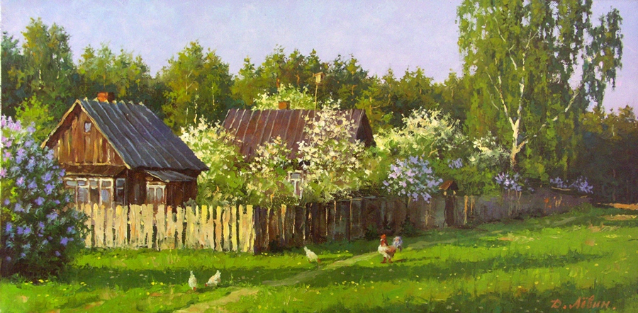 Вдали от суеты: сельские картины Дмитрия Лёвина