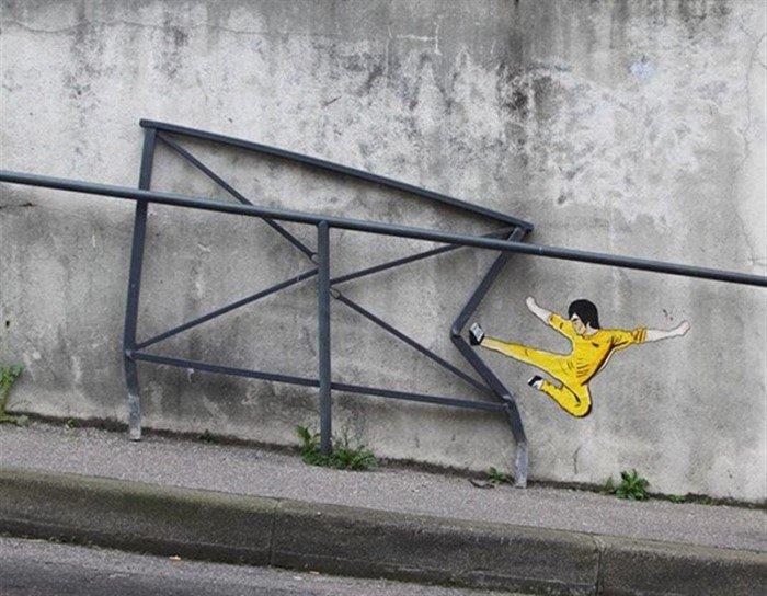 30 гениальных произведений стрит-арта
