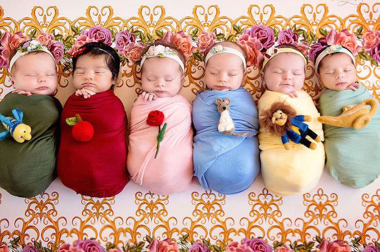 Очаровательные малышки в образах Диснеевских принцесс