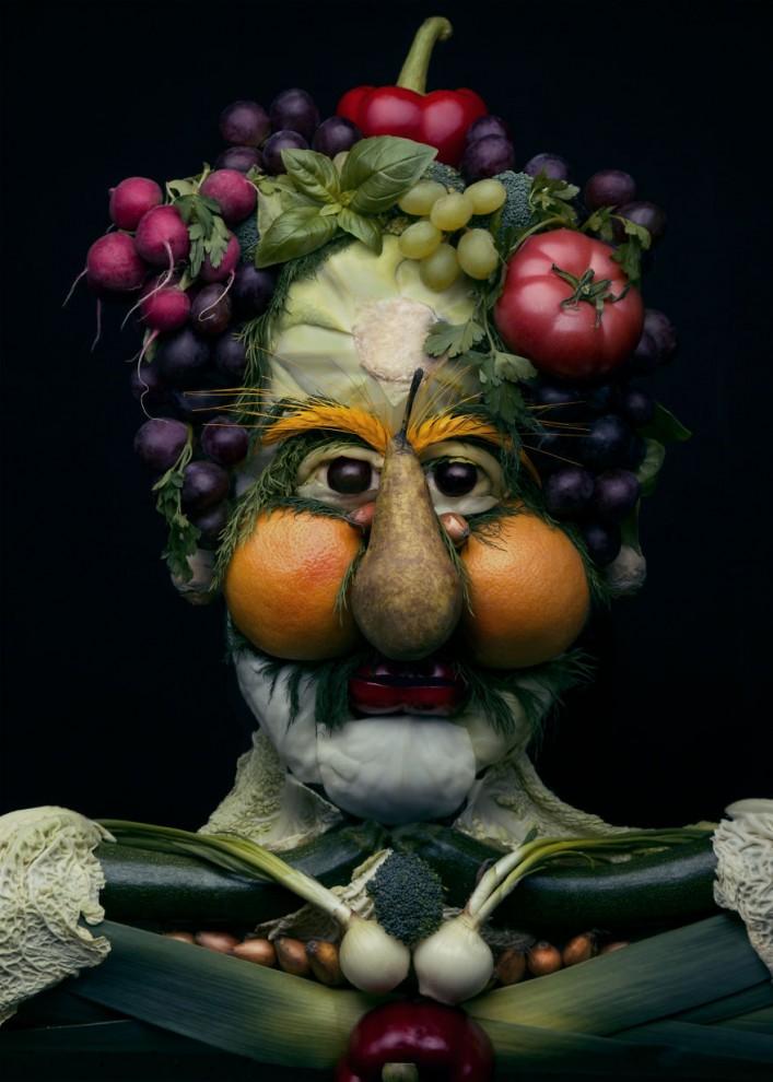 Причудливые портреты из овощей и фруктов от польской художницы