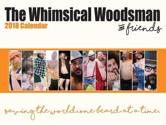 Трэш-календарь с бородатыми и пузатыми мужиками