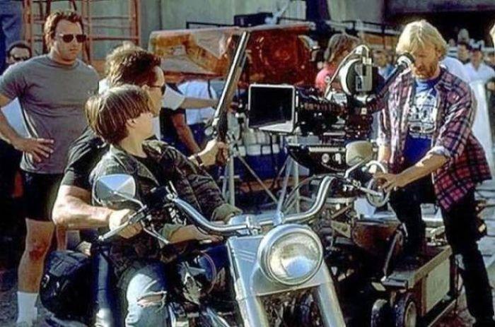 Фото со съёмочной площадки фильма «Терминатор 2: Судный день»