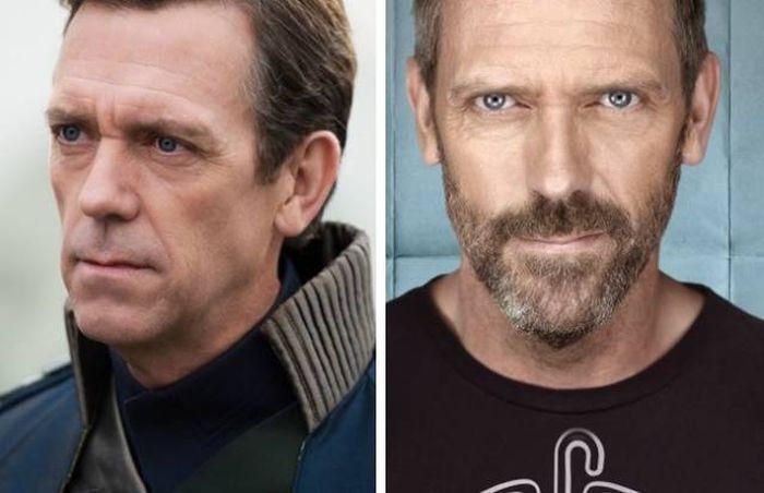 Известные актеры с бородой и без нее