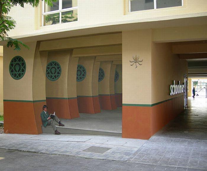 Очень реалистичные рисунки на стенах