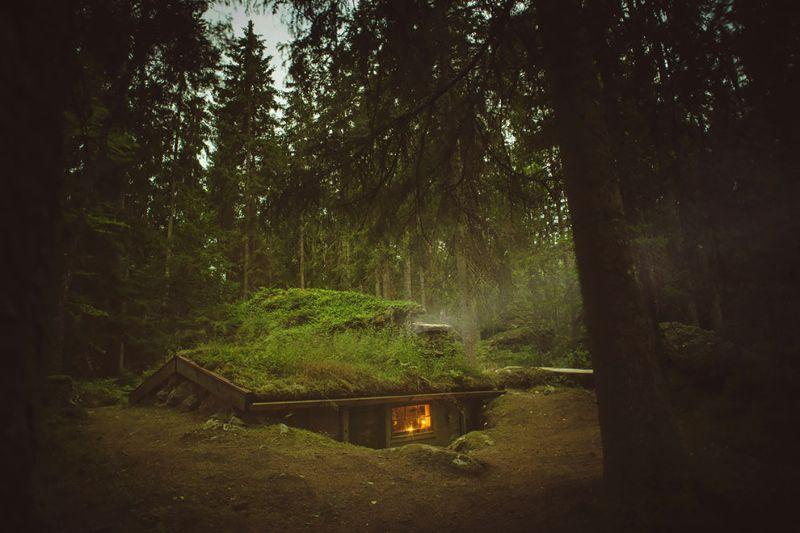Волшебная 200-летняя избушка в шведском лесу