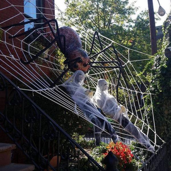 Хэллоуинский креатив на фото