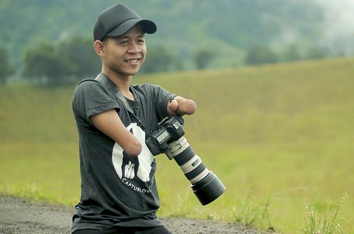 Фотограф без рук и ног делает замечательные снимки