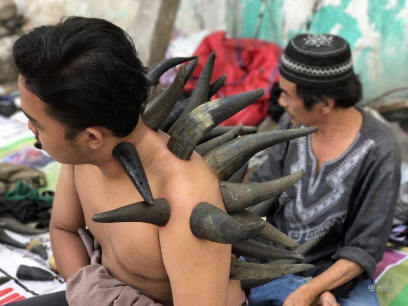 Лечение рогами от индонезийского уличного целителя