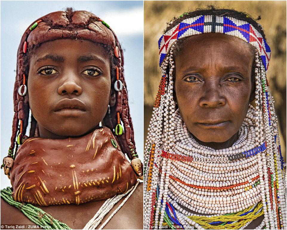 Невероятные прически женщин из племен Анголы
