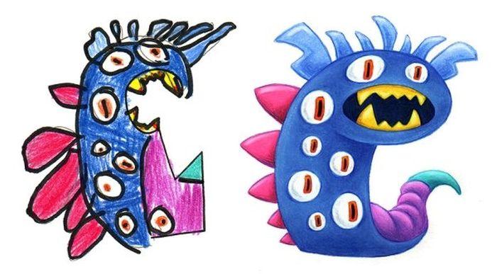 Преображение монстров с детских рисунков