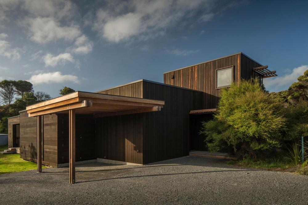 Современный деревянный дом в Новой Зеландии