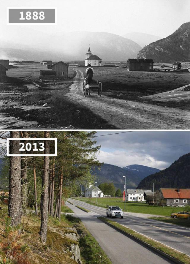 Как меняются различные места со временем